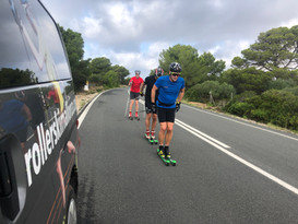 Rollerski training in the South Island