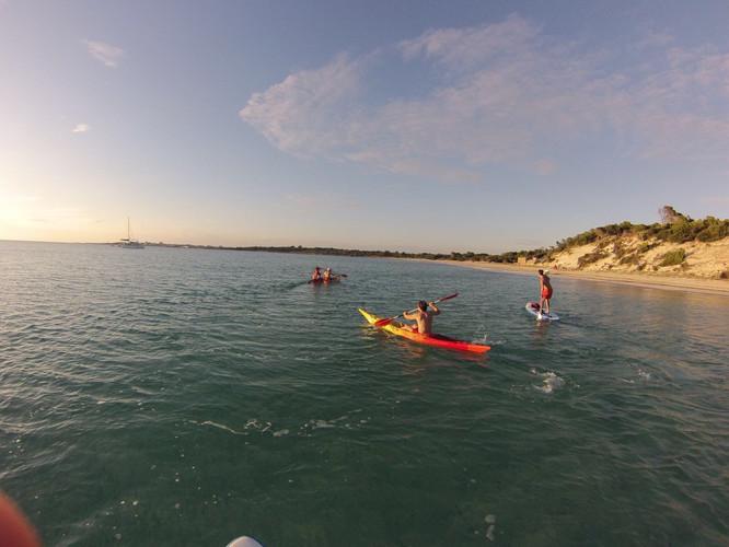 Kayak in Es Trenc