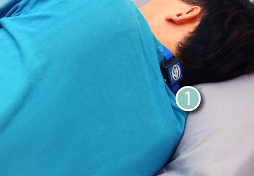 【SleepKinwood 健和醫療 - 家中鼻鼾程度評估】測試期間需要佩戴的睡眠監測儀
