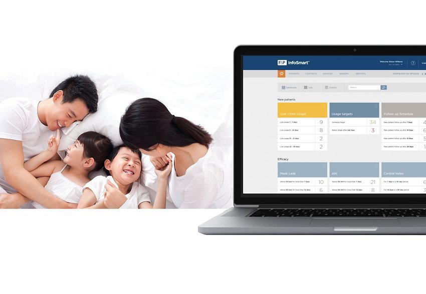 【SleepKinwood 健和醫療 - 睡眠窒息症產品】紐西蘭 Fisher & Paykel (F&P) SleepStyle 家用智能呼吸機 - 透過雲端功能,我們專業的客戶服務團隊能夠遙距跟進您的用機情況,並且根據您的需要,為您更改呼吸機設定,免除攜帶呼吸機或USB記憶棒往來門市的不便。