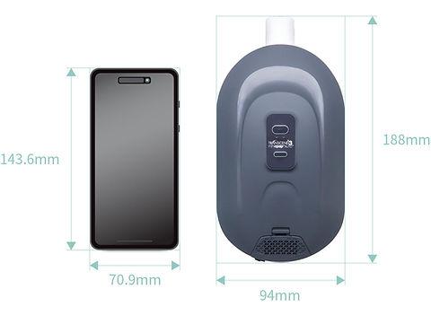 【SleepKinwood 健和醫療 - 睡眠窒息症產品】Transcend 3 旅行迷你自動型睡眠呼吸機 (Travel CPAP) - 體積輕巧,大小與智能手機相約