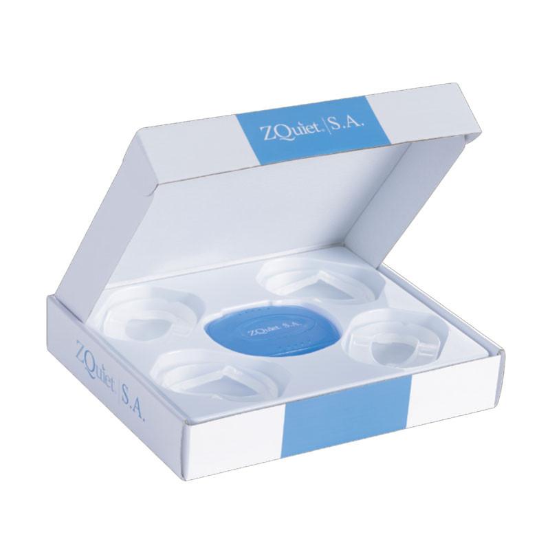 【SleepKinwood 健和醫療 - 睡眠窒息症產品】美國 ZQuiet S.A. 止鼻鼾及睡眠窒息症牙膠 (Oral Appliance) - 一盒4個尺寸,讓您可以循序漸進,慢慢適應牙膠治療。
