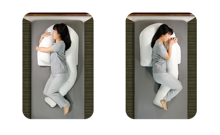 【SleepKinwood 健和醫療 - 止鼻鼾產品】MedCline 側睡治療枕 - 兩種使用方法,同樣能夠為您的背部提供穩定支撐