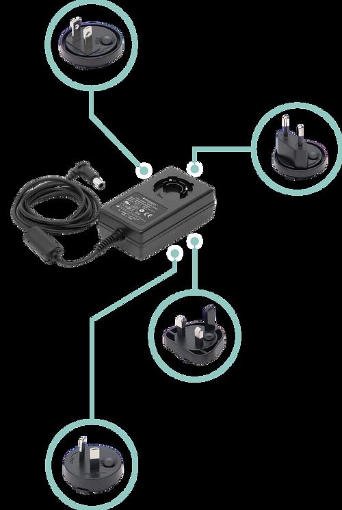 【SleepKinwood 健和醫療 - 睡眠窒息症產品】Transcend 3 旅行迷你自動型睡眠呼吸機 (Travel CPAP) - 配備多款原廠國際電源插頭,安全可靠,放心使用