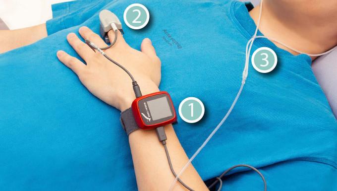 【SleepKinwood 健和醫療 - 家中睡眠窒息症篩查測試】測試期間需要佩戴的睡眠監測儀