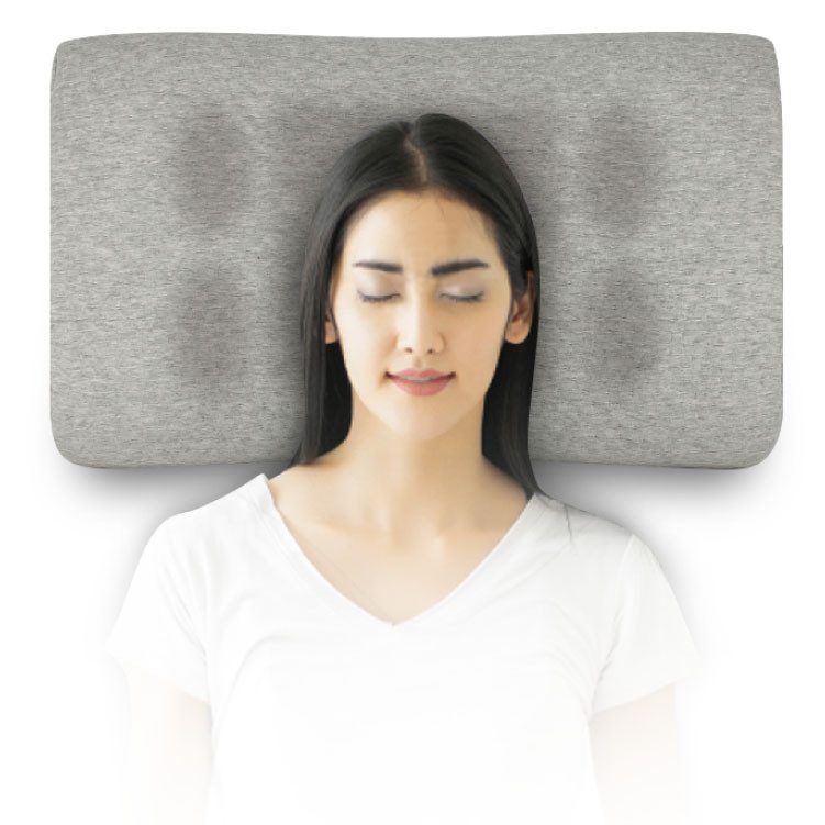 【SleepKinwood 健和醫療 - 止鼻鼾產品】Restore 護脊止鼾枕 - 中央窩形及兩側的耳井,符合人體工學設計