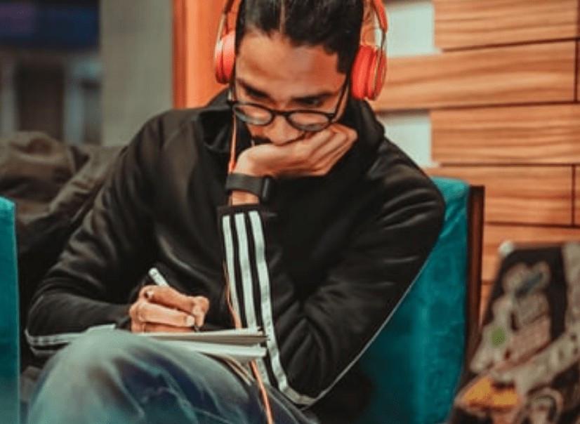 Man making notes