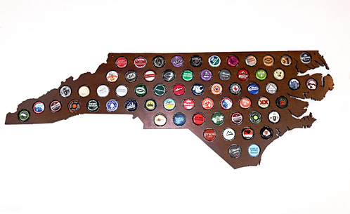 Purple And White Painted Beer Cap Map Lazeredgedesigns - Us beer cap map