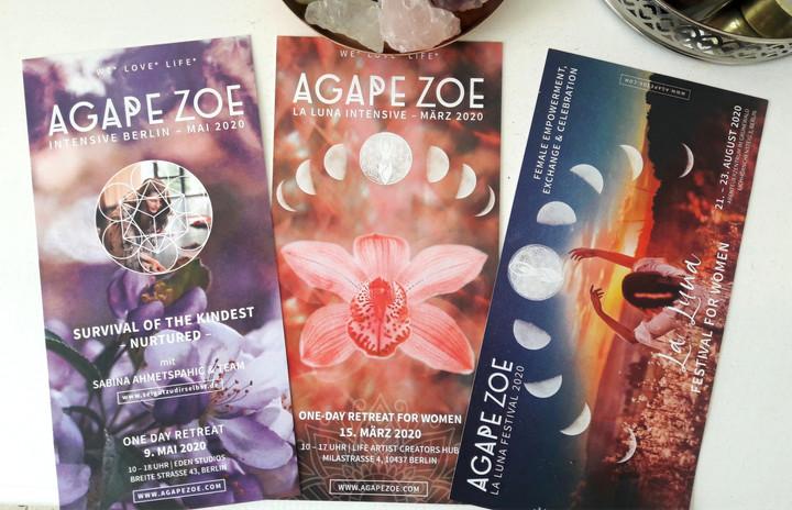 AGAPE ZOE Print Flyer