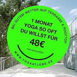 YOGA at Lobe Block Sticker