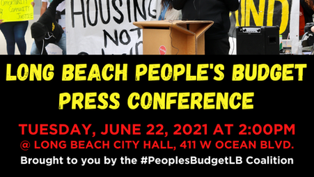 People's Budget FY22 Press Conference - Media Advisory