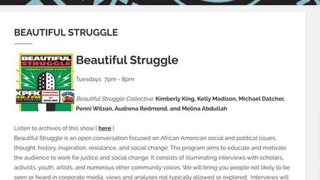 Talkin' People's Budget on 90.7 KPFK's Beautiful Struggle Show