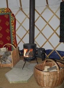 Yurt logburner