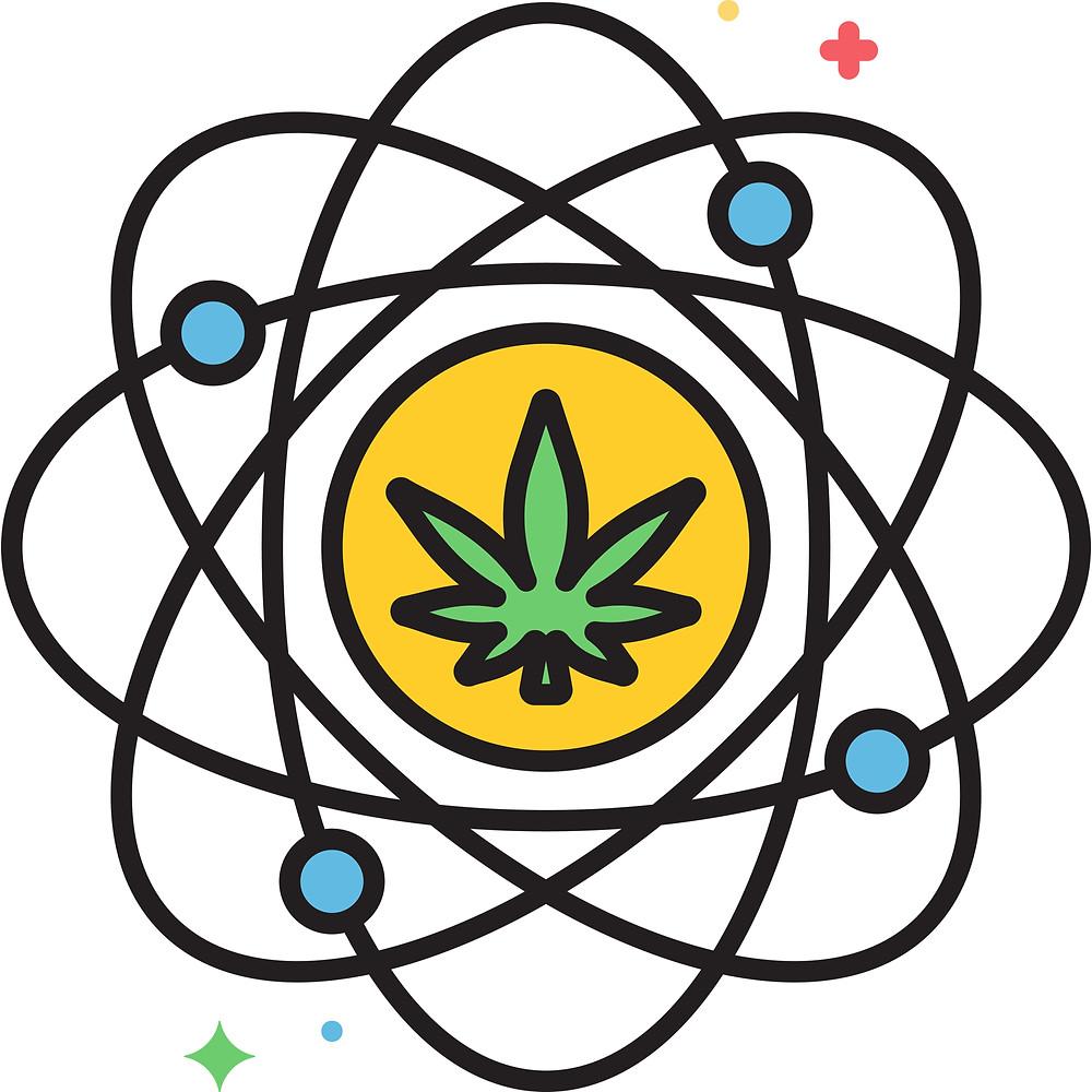 illustration of cannabis entourage effect