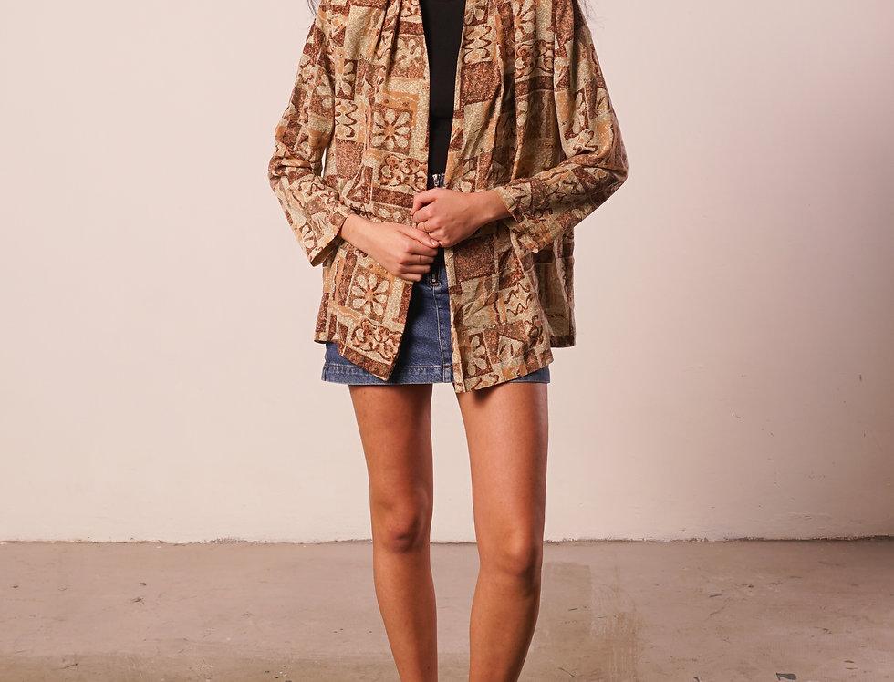 Beige Autumn pattern Cardigan