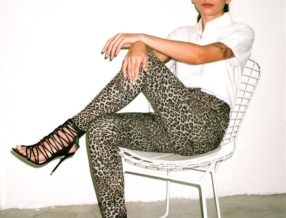 Leopard print skinny pants