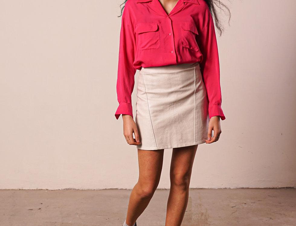 Magenta silk shirt