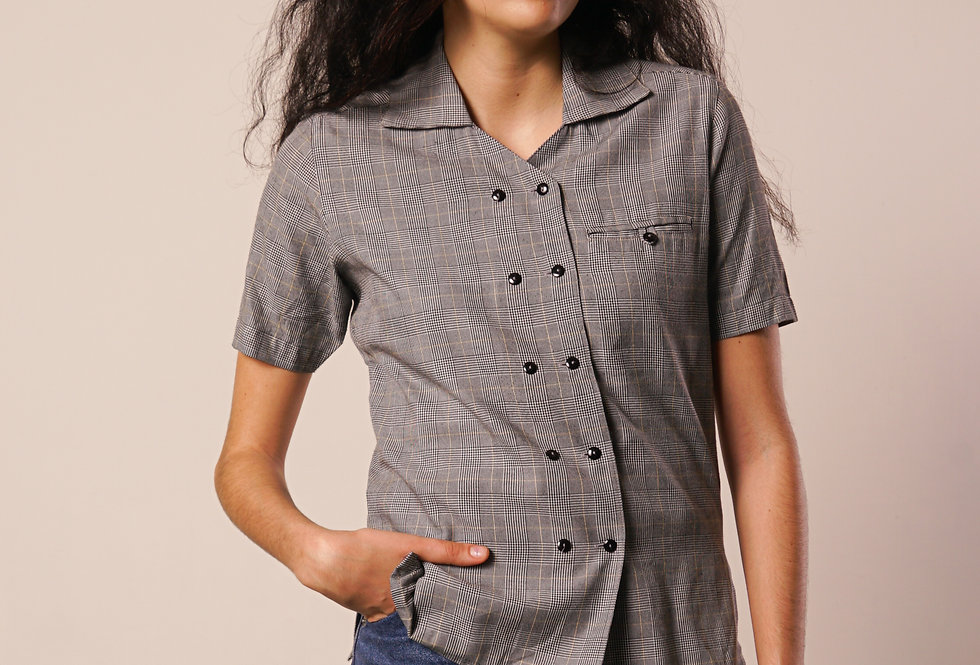 Short sleeves tartan shirt
