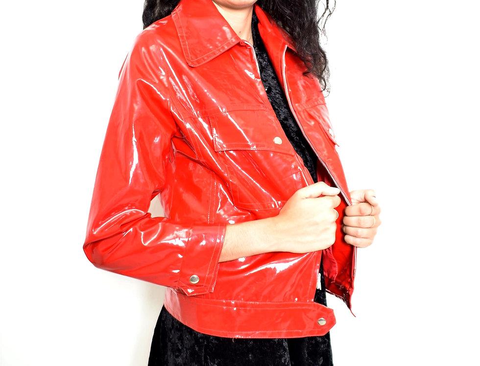 Red vinyl jacket