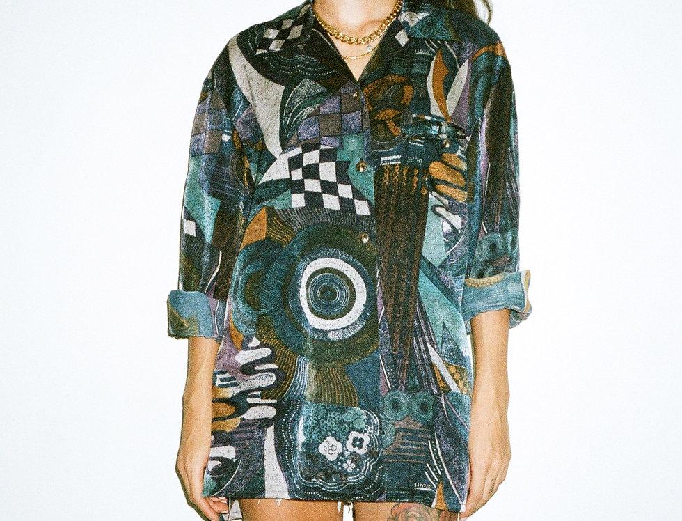Silky 80s pattern shirt