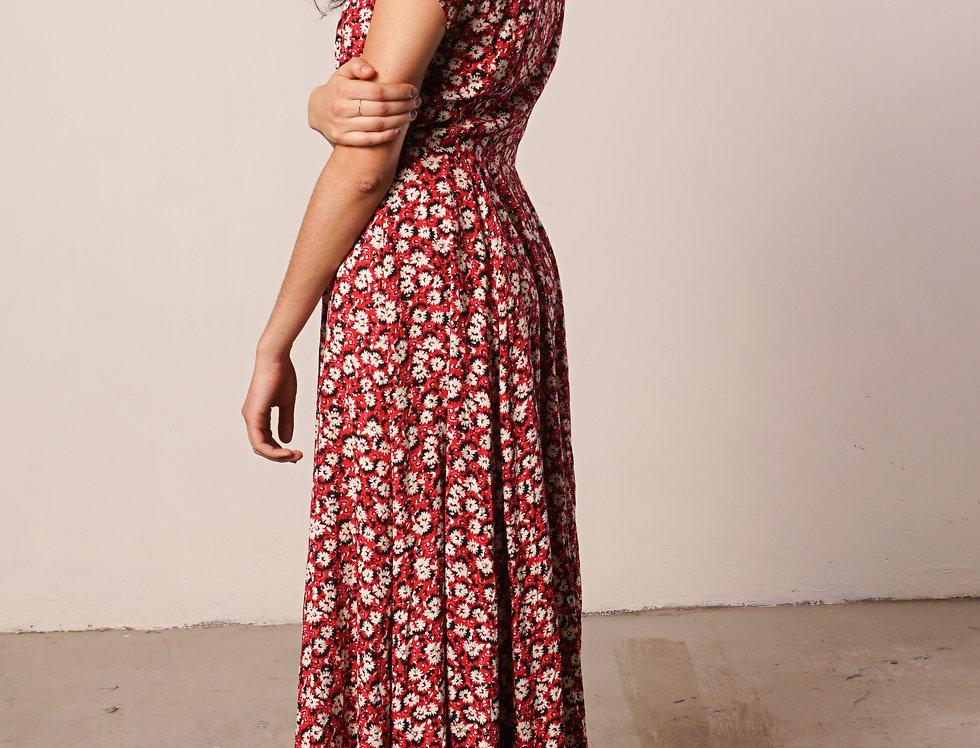 Red floral dress JCrew