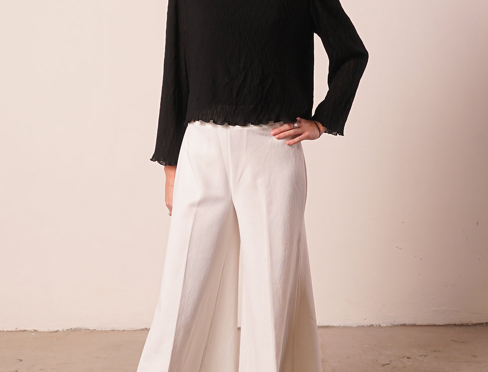 Black padded blouse