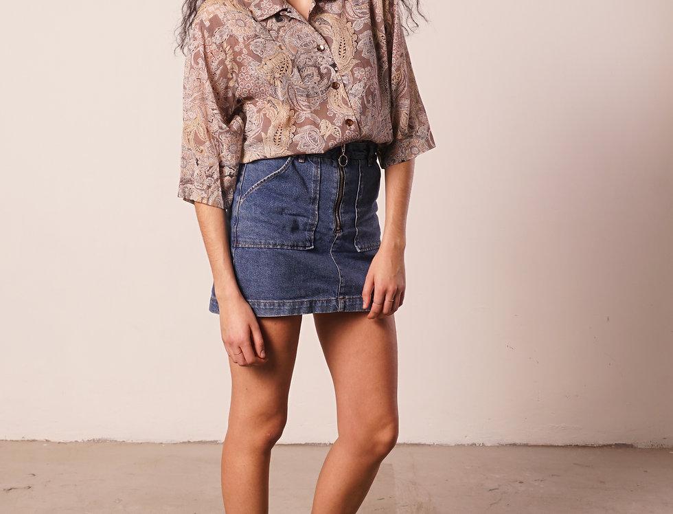 Beige cashmere pattern shirt