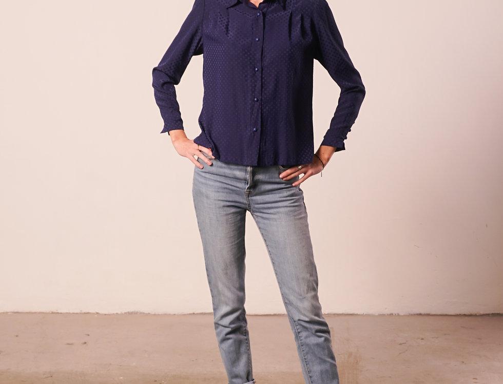Blue and dots shirt