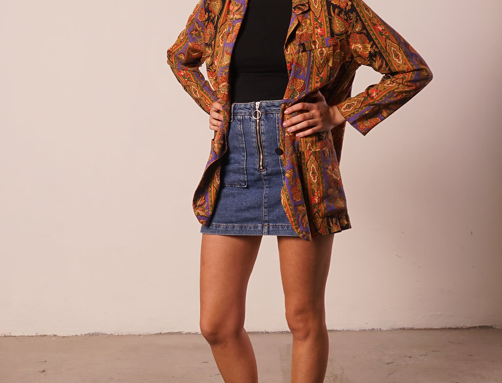 Psychedelic cashmere cardigan