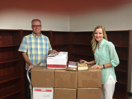 CP&D Donating Books to Maypearl Library