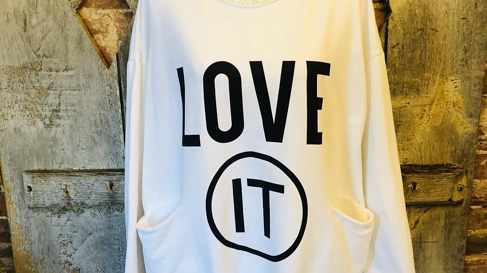 Love it sweat top in white