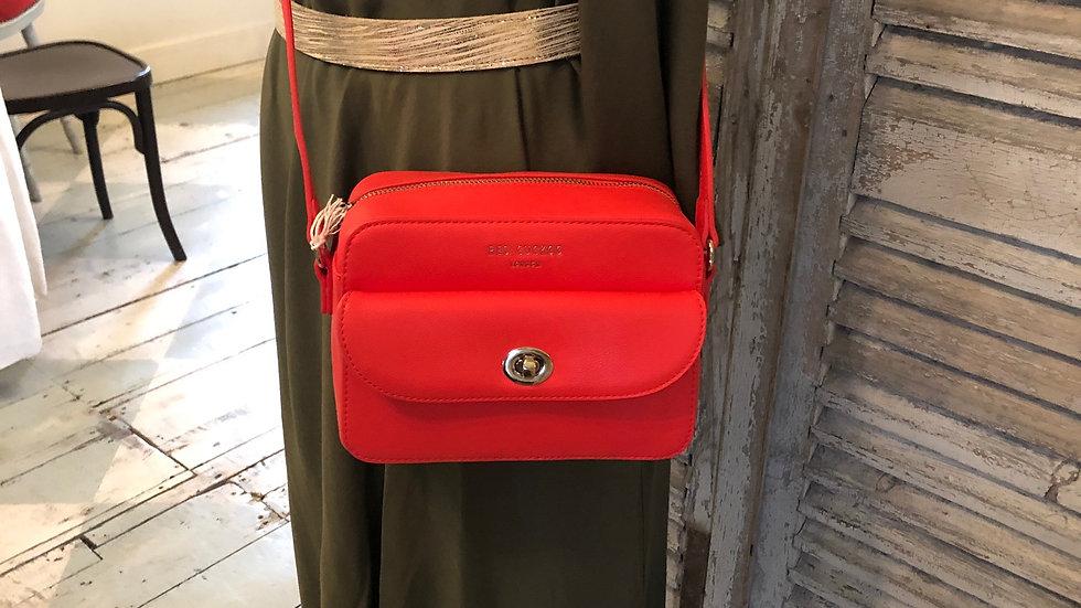 Red Cuckoo London- Coral cross body bag
