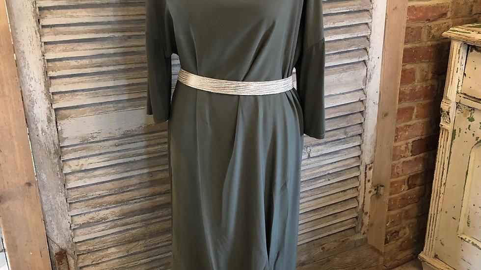 Khaki Jersey Dress