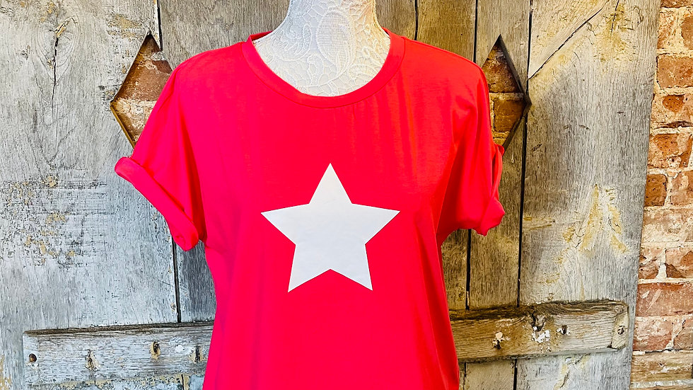 Pink T- Shirt with White Star