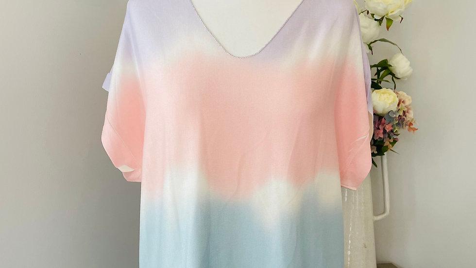 Tie Dye Lilac & Pink T-Shirt