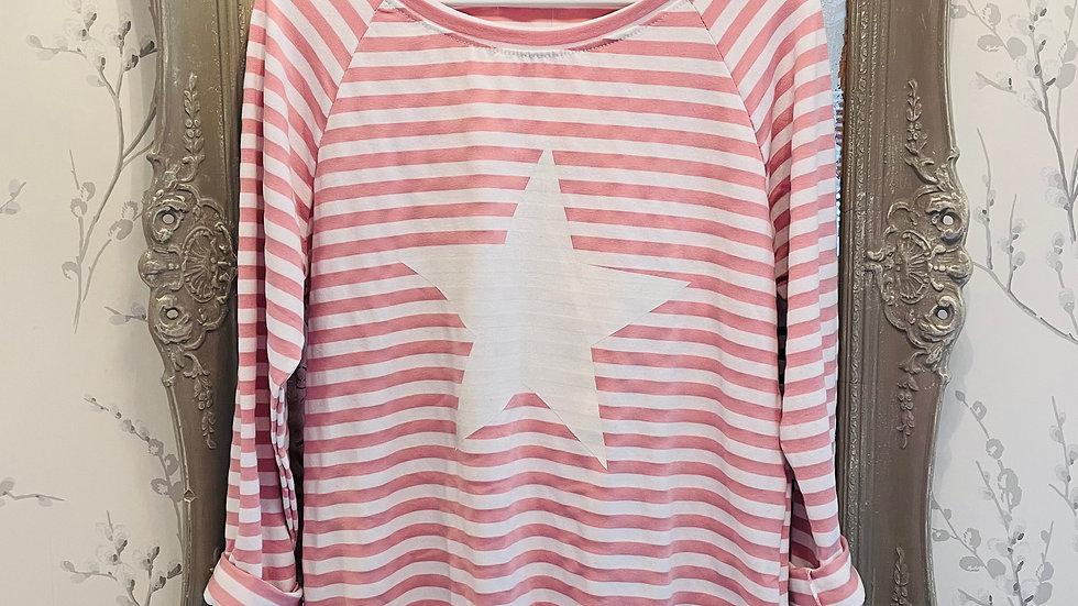 Jersey Stripe Star Top
