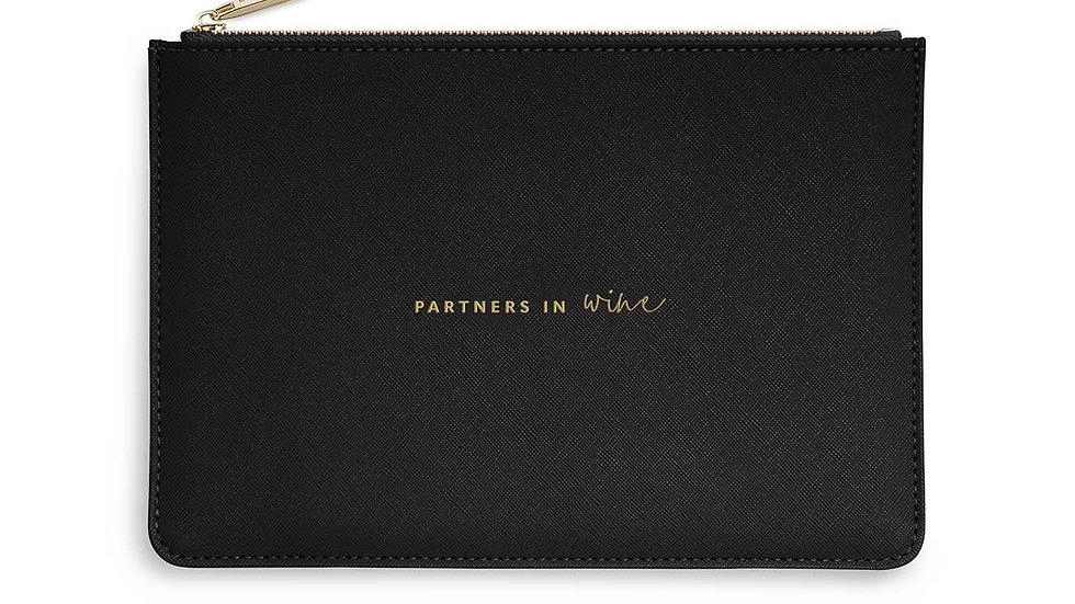 Katie Loxton Partners in Wine Black Pouch