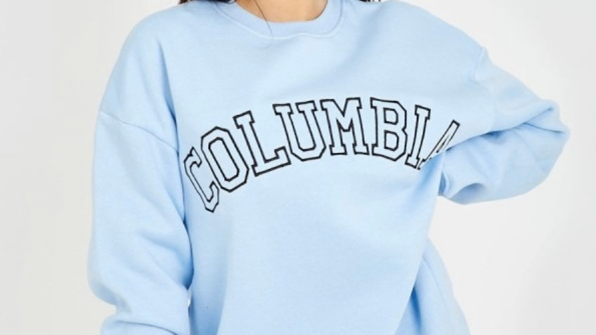 Columbia embroidered sweatshirt in blue