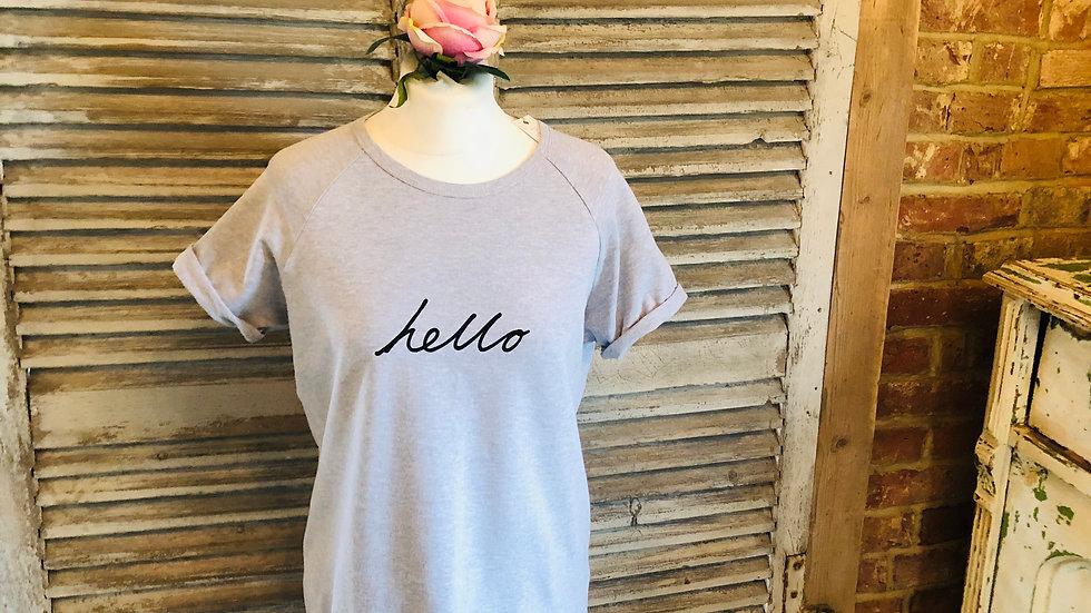 Grey Hello T-Shirt