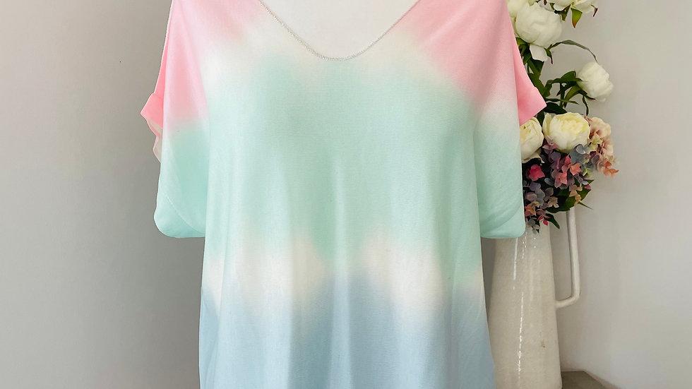 Tie Dye Mint/Blue T-Shirt