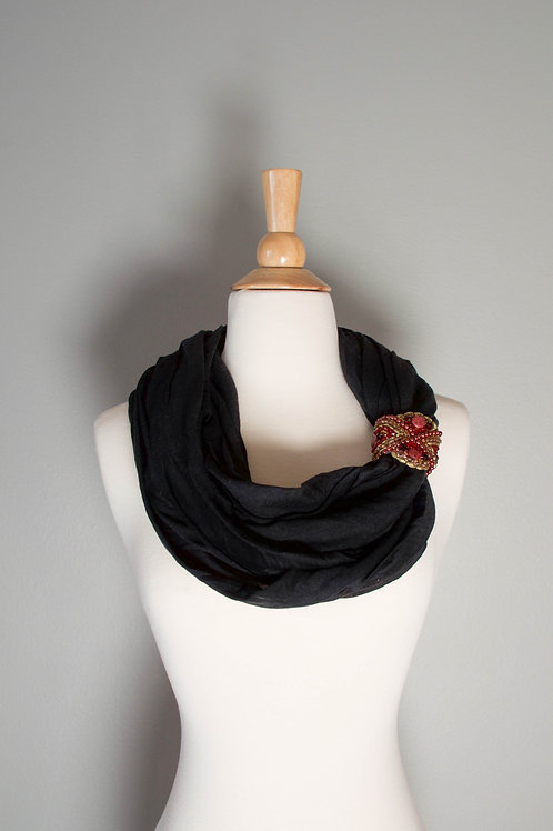 Black/Ruby Scarf