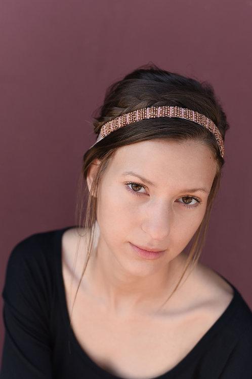 Mauve Beaded Headband