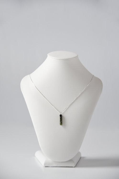Green Tourmaline Drop Necklace