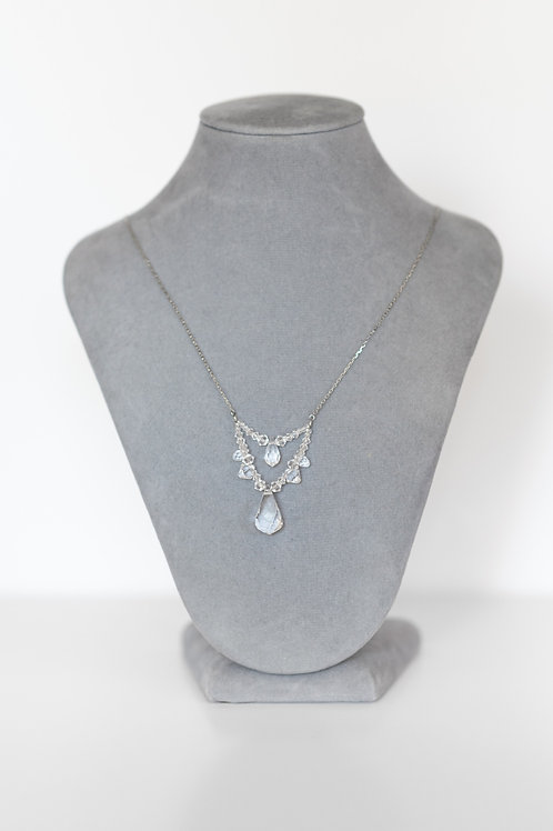 Heart Drop Wedding Necklace