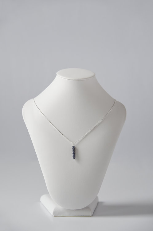 Blue Iolite Drop Necklace