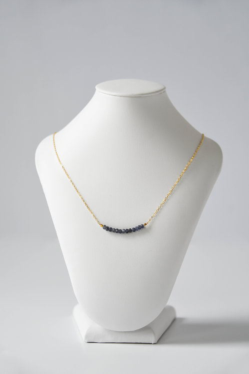 Blue Iolite Strand Necklace