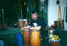 Jeff JJ Lisk  at Brady's café Kent, Ohio 1989