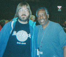 Jeff JJ Lisk and friend. Former James Brown Funky Drummer Clyde Stubblefield    (Kane County Drum Show 1997)