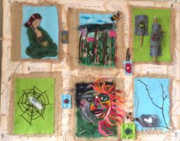 visualising literature-needle felt- courtesy of Nikcy Baillie