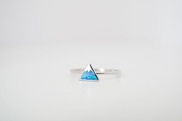 Sterling Silver Single Mountain Peak Ring